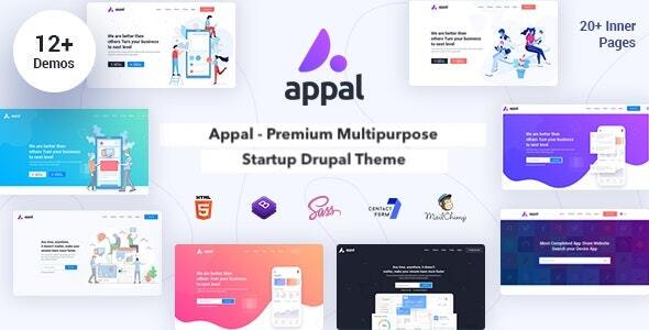 Download Appal - Multipurpose Startup & Landing Page Theme for Drupal