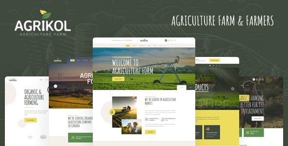 Agrikol - PSD Template For Agriculture Farm & Farmers