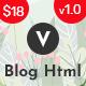 Vlogrex - Blog & Magazine HTML Template - ThemeForest Item for Sale