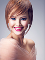 Beautiful smiling redhead girl with style hairstyle. - PhotoDune Item for Sale