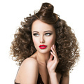 Beautiful woman with creative hairstyle. - PhotoDune Item for Sale