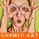 Cosmic Cartoon Art Photoshop Action - GraphicRiver Item for Sale