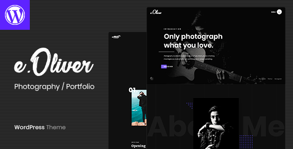 Oliver - Photography Portfolio WordPress Theme