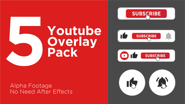 Clean Youtube Subscribe Button Pack by easygraphics
