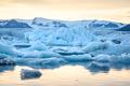 Beautiful view of icebergs in Jokulsarlon glacier lagoon at sunset, Iceland - PhotoDune Item for Sale