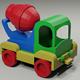 Toy low-poly Car Concrete Mixer - 3DOcean Item for Sale