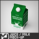 Medium Juice / Milk Packaging Mock-Up - GraphicRiver Item for Sale