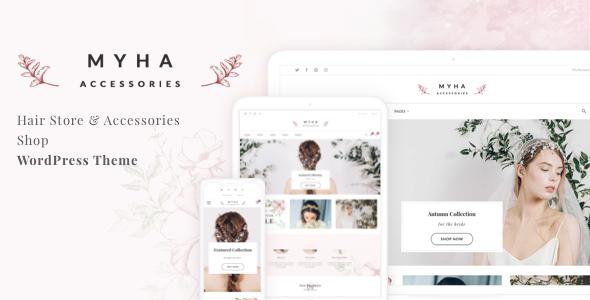 Myha - Accessories Store & Hair Shop WordPress theme