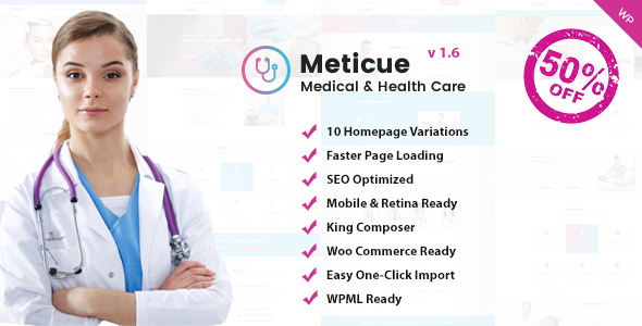 Meticue: Health and Medical Center WordPress Theme