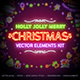 Christmas Neon Signs Set - GraphicRiver Item for Sale