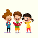 Kids Reading Book - GraphicRiver Item for Sale