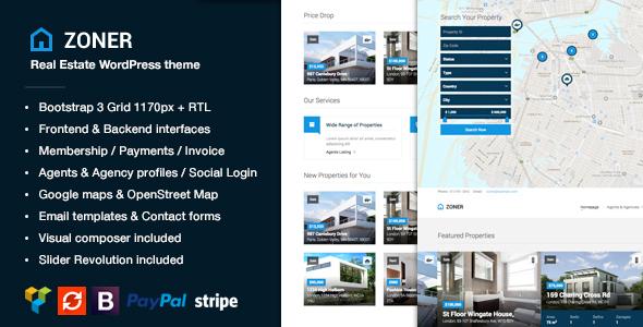Zoner - Real Estate WordPress Theme