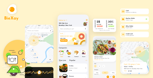 BieXay - Food and Delivery App