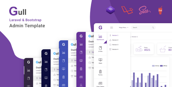 Gull - Laravel + Bootstrap Admin Dashboard Template