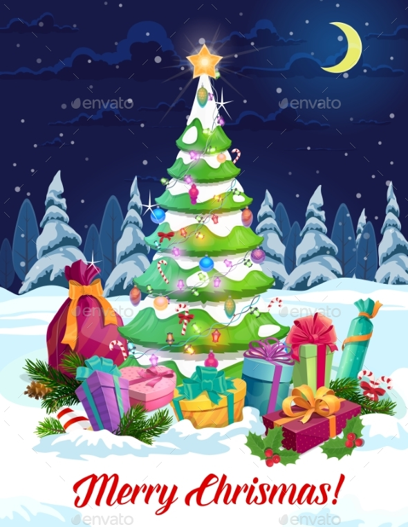 Christmas Gifts, New Year Presents and Xmas Tree
