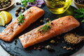 Raw Salmon and Spices - PhotoDune Item for Sale
