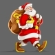 Santa Claus with Gifts Sack - GraphicRiver Item for Sale