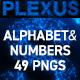 Plexus Alphabet & Numbers - GraphicRiver Item for Sale