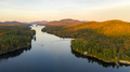 Aerial View Over Long Lake Adirondack Park Mountains New York US - PhotoDune Item for Sale