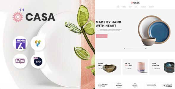 Casa - Furniture Ceramics WooCommerce Theme