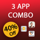 3 app android source code bundle, combo,pack