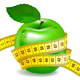 Green Apple With Measuring Tape - GraphicRiver Item for Sale
