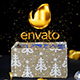 Christmas Magic Gift Box with Golden Text Inside - VideoHive Item for Sale