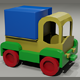 Toy low-poly Truck - 3DOcean Item for Sale
