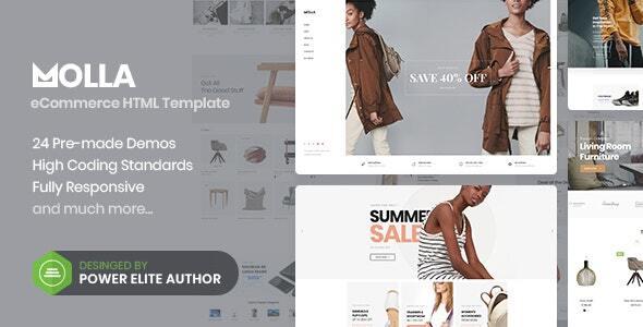 Molla - eCommerce HTML5 Template