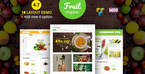 Fruit Shop - Organic Farm Food, Natural RTL Responsive WooCommerce WordPress Theme