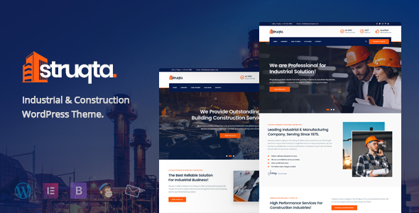Struqta - Industrial & Construction WordPress Theme