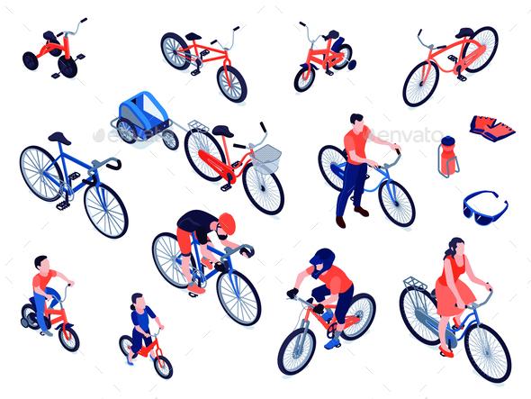 Bicycles Isometric Set