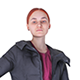 Redhead woman in a black jacket with a bag 98 - 3DOcean Item for Sale