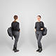 Woman dressed in black with backpack 100 - 3DOcean Item for Sale