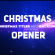 Christmas Opener with Particles - VideoHive Item for Sale
