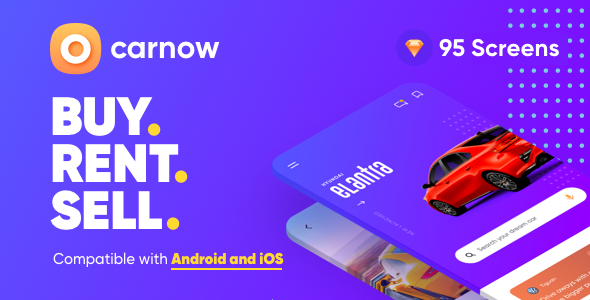 Carnow - New Car, Used Car, Sell Car and Rental Car Mobile UI Kit for sketch App