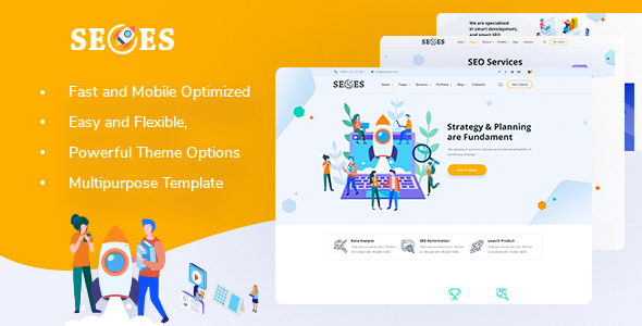 Seoes - Marketing Agency WordPress Theme