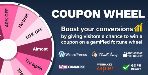 Coupon Wheel For WooCommerce and WordPress Download