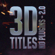 3D Titles - No Plugins 2.0 - VideoHive Item for Sale