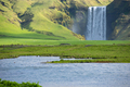 Skogafoss waterfall, on the Ring Road in Iceland - PhotoDune Item for Sale