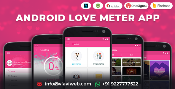 Android Love Meter App (SMS, Wallpaper, Calculator) Download