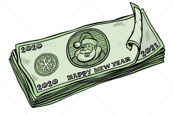 2020 2021 Banknotes Money Cash Annual Bonus
