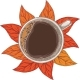 White Cup of Coffee Top View - GraphicRiver Item for Sale