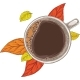 Cup of Coffee and Autumn Leaves - GraphicRiver Item for Sale