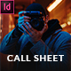 Call Sheet - Photographers Brief - GraphicRiver Item for Sale