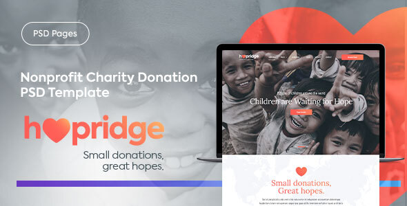 Hopridge - Nonprofit Charity Donation PSD Template