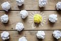 Good idea crumpled paper light bulb metaphor - PhotoDune Item for Sale