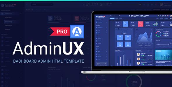 AdminuxPRO Dashboard HTML Bootstrap 4, Angular 8, React, laravel Starterkit