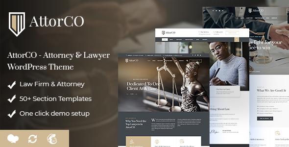 AttorCO - Attorney & Lawyer  WordPress Theme