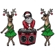 Santa Claus and the Reindeer - GraphicRiver Item for Sale